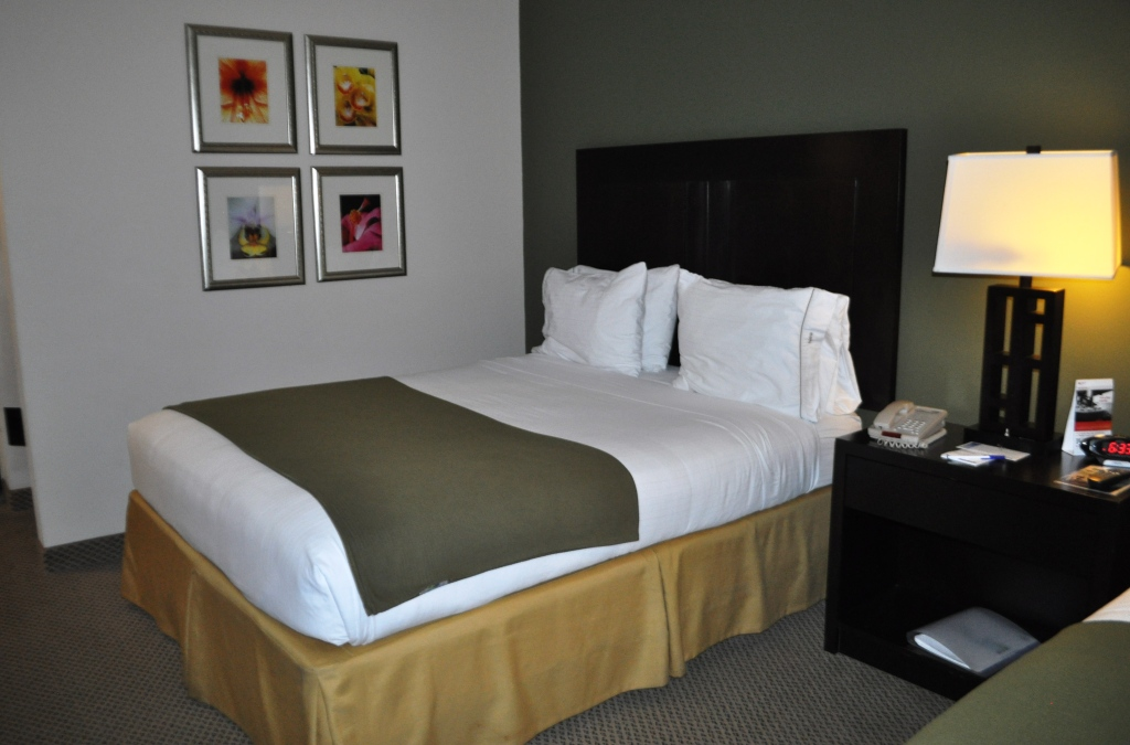 Cozy Bed at the Holiday Inn Express Hotel & Suites in Marathon , Fla.