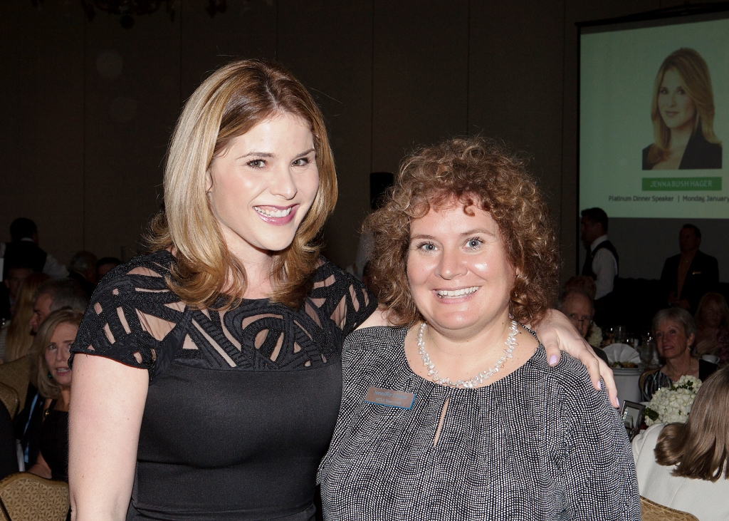 Jenna Bush Hager and I, The Ritz-Carlton, Sarasota, Fla., Jan. 13, 2014. Photo Credit: Robert Pope Photography