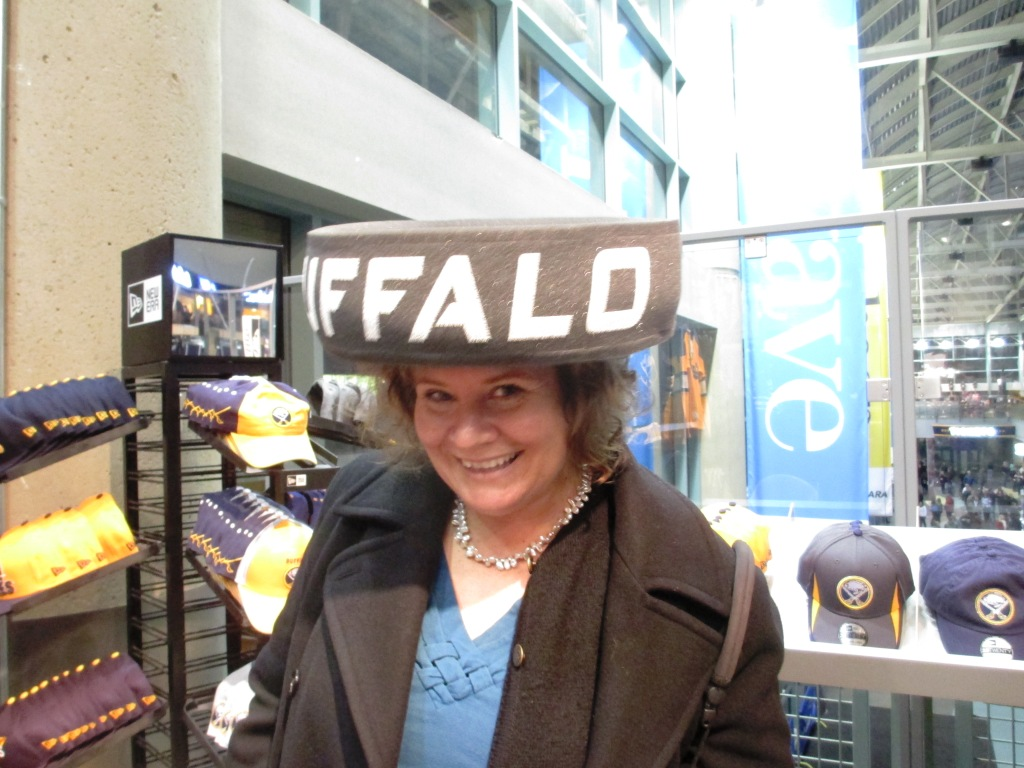 Hmm, I Think the Puck Hat Flattens My Hair Too Much. Just Having Fun Before the Sabres Game, Dec. 23, 2013