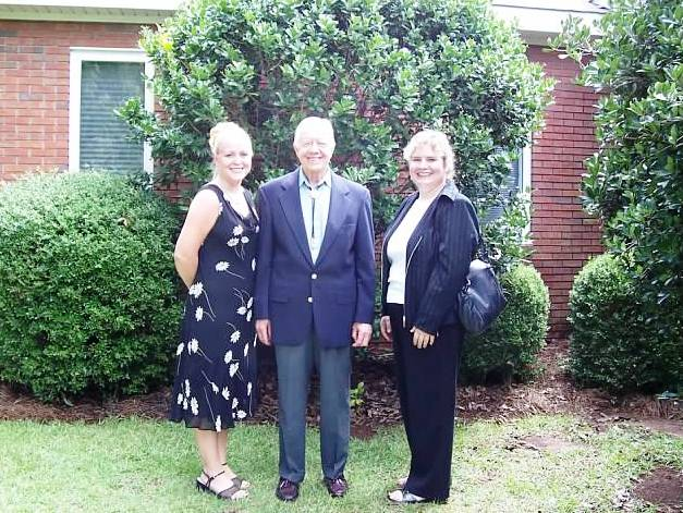 My Friend Nicole, President Jimmy Carter and Me Following Sunday School in Plains, Ga.
