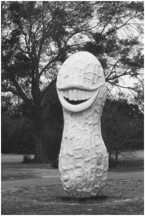 The 13-foot-tall Presidential Peanut in Front of the at Davis E-Z Shop in Plains, Georgia
