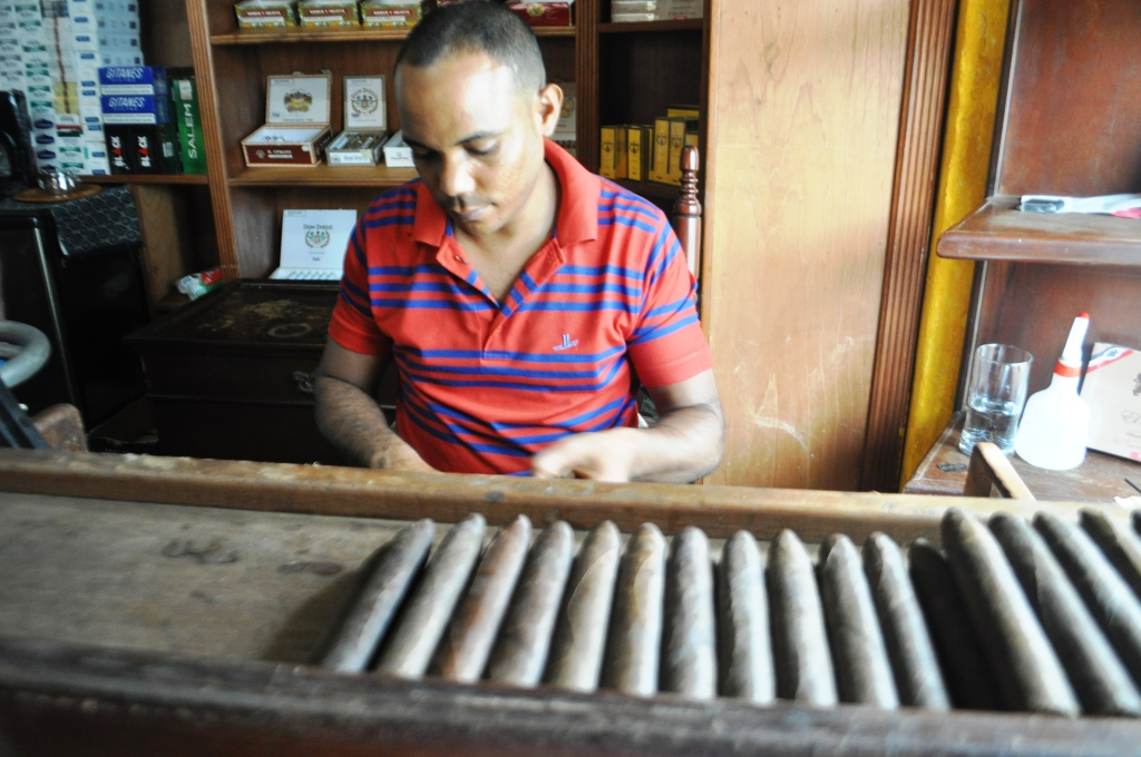 Meet Ramon, a Cigar Roller at La Leyenda del Cigarro, Cigar Shop & Factory in Santo Domingo, Dominican Republic