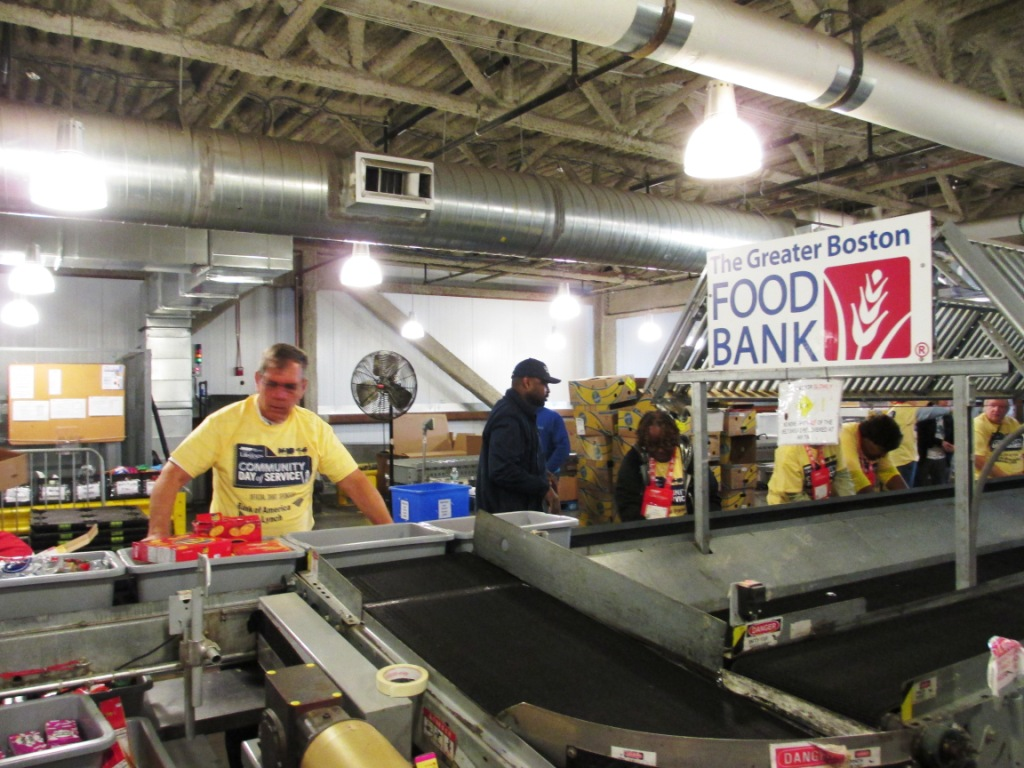 AARP Life@50+ Community Day of Service at the Greater Boston Food Bank, May 8, 2014